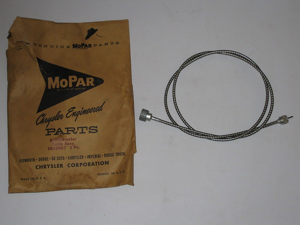 1951 thru 1964 Chrysler Desoto Dodge Plymouth NOS speedometer cable # 1819957