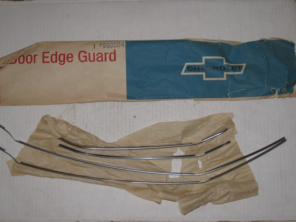 1969 1970 Chevrolet 4 door full size models NOS door edge guard set # 993504