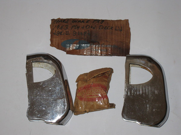 1953 Dodge Plymouth NOS grill guard cap set # d-14283