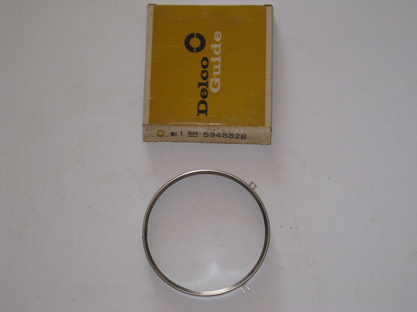 1958 thru 1976 Buick Cadillac Chevrolet Pontiac NOS 5 headlight retaining ring # 5954892