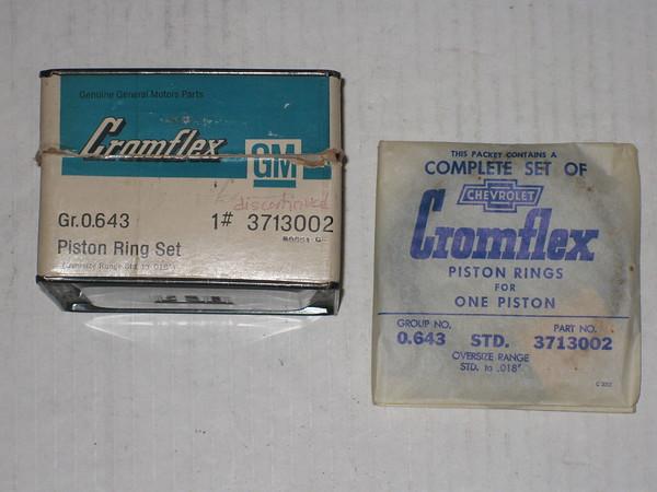 1953 1954 1955 1956 Chevrolet & Corvette NOS 6 cylinder rings # 3713002