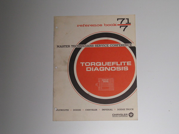 1971 Mopar master tech book-torqueflite diagnosis # 71/7 (zd 71/7)