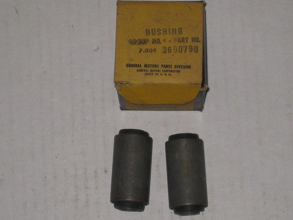 1938 thru 1954 Chevrolet passenger car NOS rear spring shackle eye bushes # 3690790