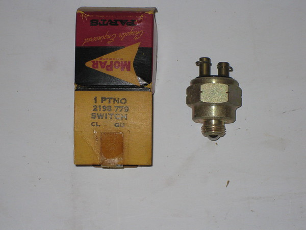 1955 56 57 58 59 1960 61 Chrysler Desoto Dodge Plymouth NOS back up lamp switch # 2198779
