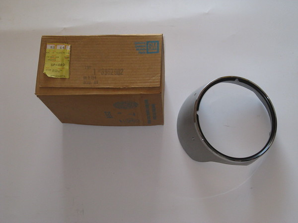 1969 Chevrolet Camaro NOS RH headlight bezel with chrome headlight ring # 3962902