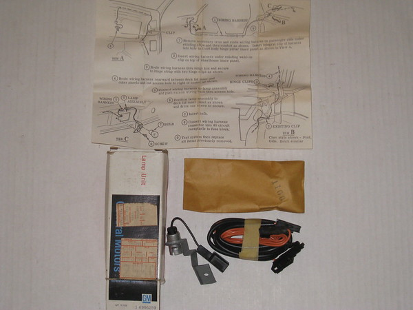 1980 1981 Chevrolet Citation Buick Skylark NOS luggage compartment lamp kit # 996259
