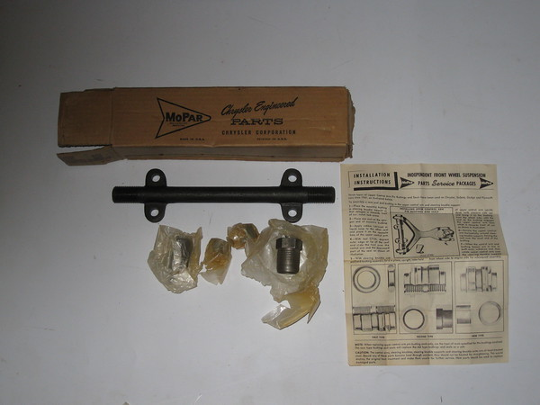 1939 thru 1954 Chrysler Desoto Dodge Plymouth NOS lower inner control arm pivot bar kit # 1450484