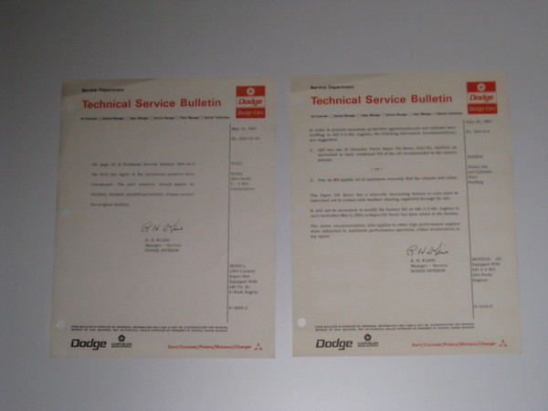 1969 Dodge original service bulletins 65 different pieces #69dsb (zd 69dsb)