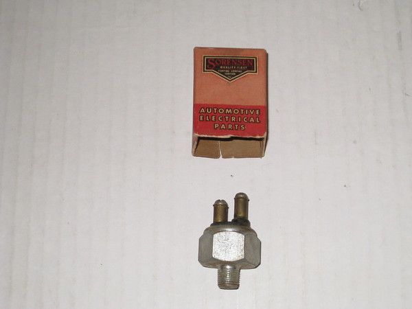 1935 thru 1950 GM Mopar Studebaker Jeep new replacement brake light switch # sw-8