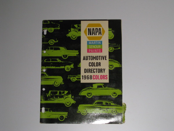 1968 Napa automotive paint color directory cars trucks GM Ford Mopar AMC etc #68ncd (zd 68ncd)