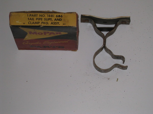 936 thru 1954 Chrysler Desoto Dodge Plymouth NOS tailpipe support & clamp assy # 1881686 (zd 1881686)