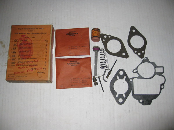 1941 1942 Nash Six 600 NOS carter 513s carburetor repair parts package # 1307a (3112077)