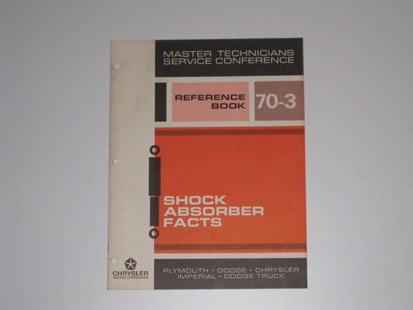 1970 Mopar master tech book- shock absorber facts # 70/3 (zd 70/3)