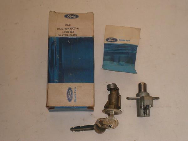 1971 1972 1973 Ford Mustang Pinto NOS trunk glove box lock set # d1zz-6543507-a (zd d1zz-6543507-a)