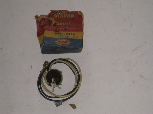 1957 1958 Dodge NOS manual transmission back up lamp switch # 1704234