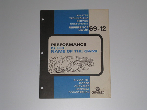 1969 Mopar master tech book- performance is name of the game # 69/12 (zd 69/12)