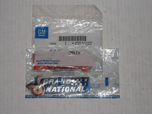 1982 83 84 85 86 1987 Buick Grand National NOS front fender & trunk emblem grand national # 25516222