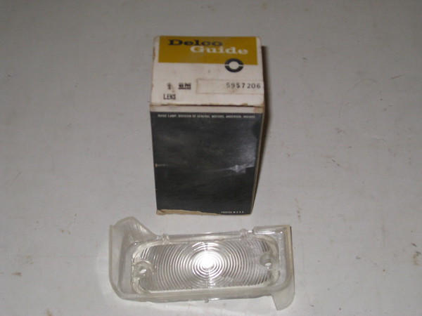 1965 Pontiac full size Bonneville Catalina Star Chief NOS LH park turn lamp lens # 5957206 (zd 5957206)