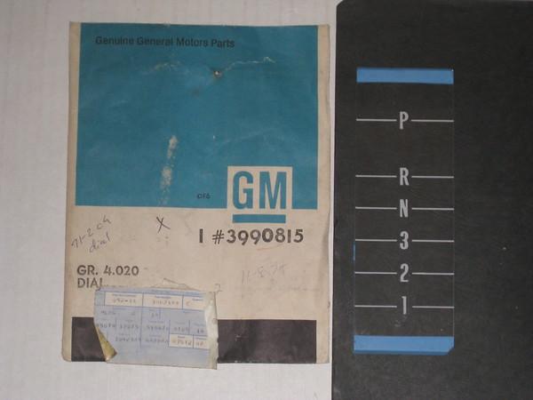 1971 1972 Chevelle Monte Carlo NOS center console indicator lens #3990815
