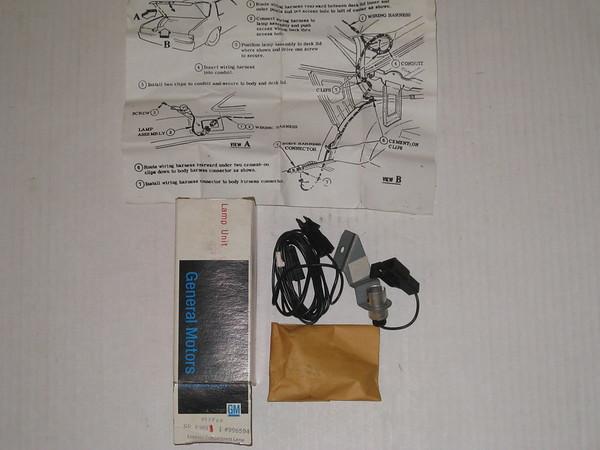 1980 thru 1989 Chevrolet Buick Oldsmobile Pontiac NOS luggage compartment kit # 996594