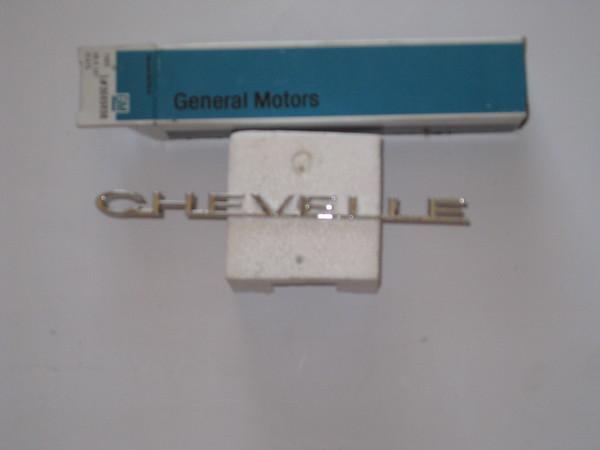 1964 Chevelle NOS front fender chevelle emblems # 3849498 2 pieces