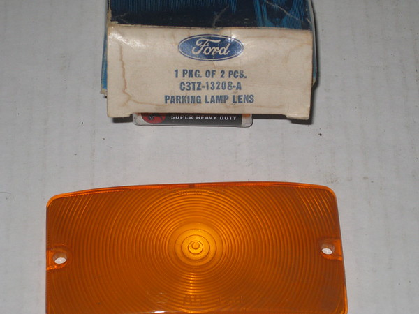 1959 thru 1977 Ford truck bronco van NOS front park turn lamp lens # c3tz-13208-a