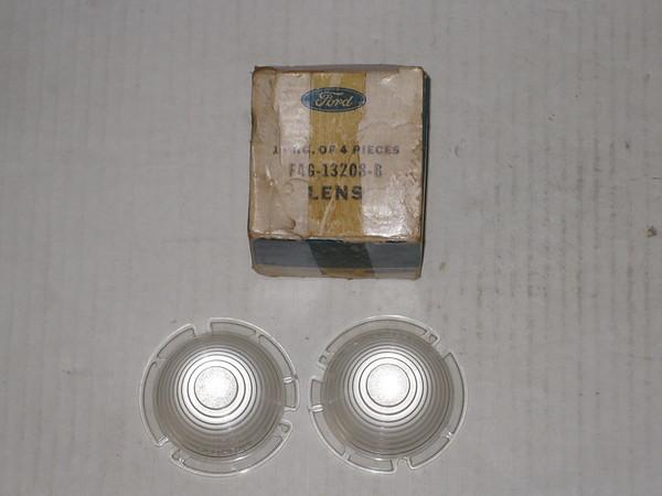 1955 1956 Ford Thunderbird NOS front park turn lamp lenses # fag-13208-b