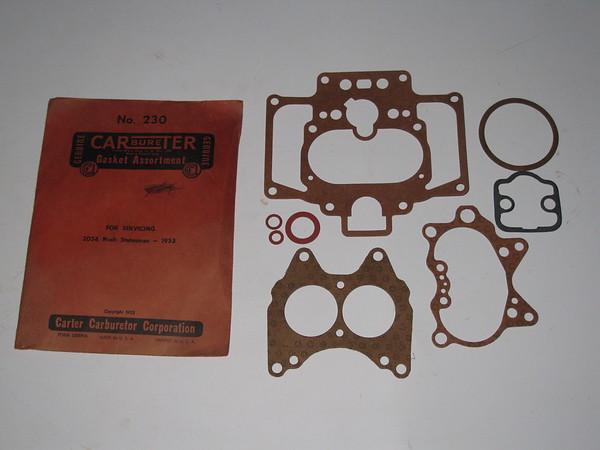 1953 Nash Statesman NOS carter carburetor gasket set # 230