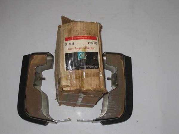 1974 1975 Chevrolet Impala Caprice NOS front bumper guards # 994573