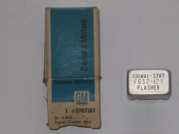 1961 1962 1963 Chevy II Nova Corvair NOS traffic hazard lamp flasher # 3767367