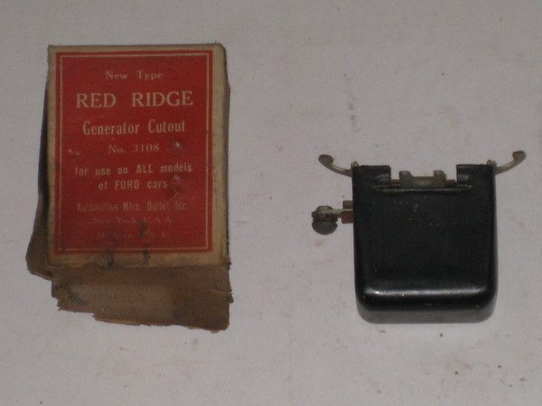 1918 -1948 Ford New replacement generator cur out relay # 3108 (zd 3108)