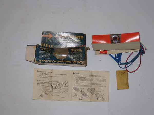 1950's 1960's new 4 way emergency flasher kit # r4wf- gm ford mopar amc etc