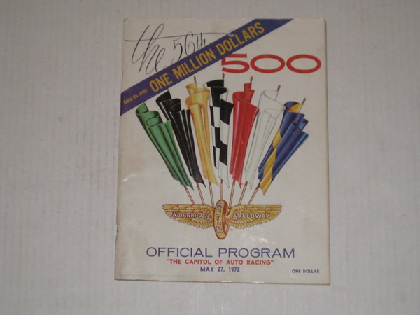 1972 Indianapolis 500 original official program features hurst olds convertible # 72i500p