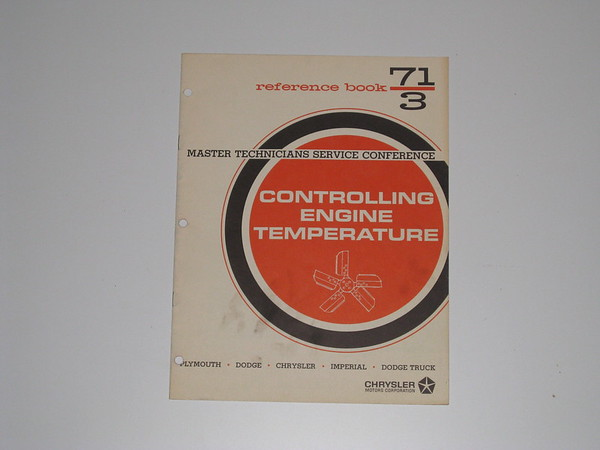 1971 Mopar master tech book-controlling engine temperature # 71/3 (zd 71/3)