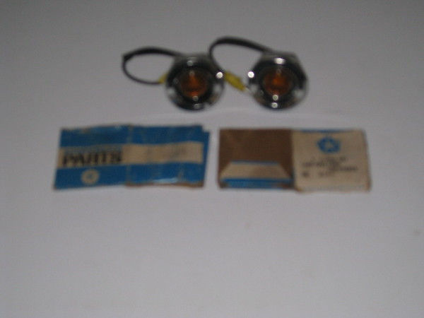 1968 Plymouth Dodge A & B body NOS front side marker lamp pair # 2853647
