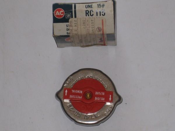1964 thru 1975 Buick Cadillac Chevrolet Oldsmobile Pontiac NOS rotosafe radiator pressure cap # 861854 AC # rc115