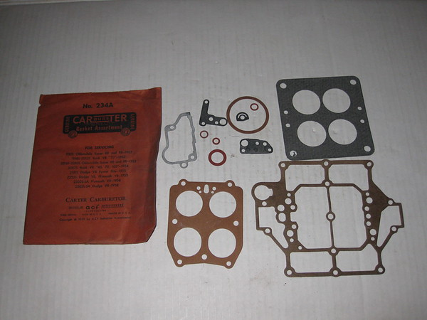 1952 53 54 55 1956 Buick Oldsmobile Dodge Plymouth NOS carter carburetor gasket assortment # 234a