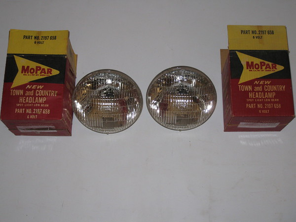 1951 1952 1953 1954 1955 Chrysler Desoto Imperial NOS headlamps # 2197658 (2 Pieces)