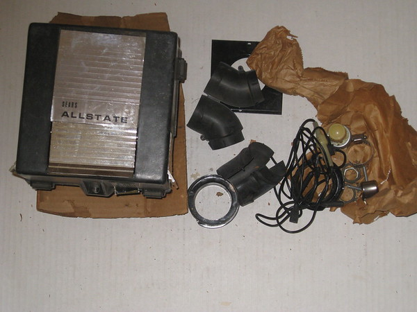 1955 & later new sears 12 volt universal heater kit for any GM Ford Mopar AMC etc # 891-7715