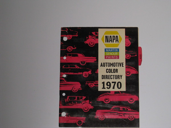 1970 Napa automotive paint color directory cars trucks GM Ford Mopar AMC etc #70ncd (zd 70ncd)