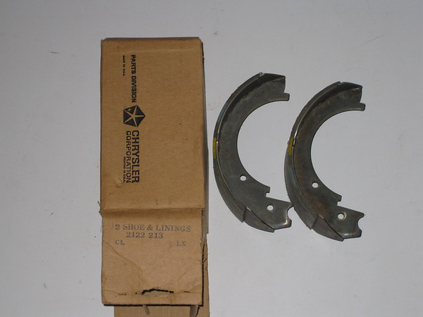 1960 1961 1962 Chrysler Desoto Dodge Imperial NOS emergency brake shoe set # 212213