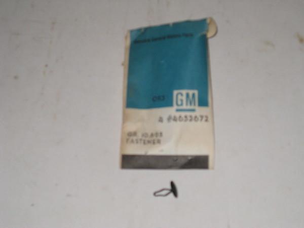 1956 thru 1967 Corvette Chevrolet full size Oldsmobile NOS door weatherstrip metal fastener #4653672 (4 pieces) (zd 4653