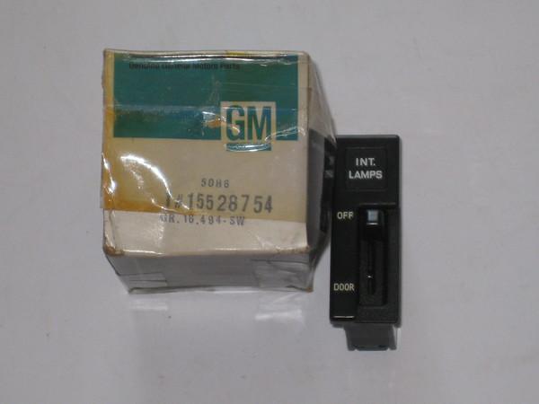 1985 1986 1987 1988 1989 Chevrolet Astro GMC Safari NOS interior light switch # 15528754