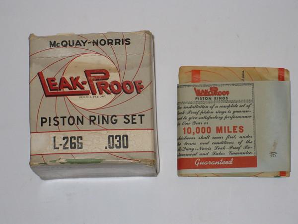 1939 1940 1941 1942 1946 Pontiac 8 cylinder new ring set .030 oversize # l266.030