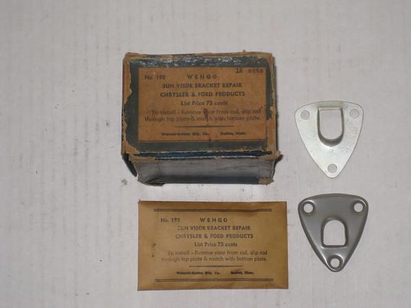 1930's 1940's Ford Mopar new replacement sun visor bracket repair kit # no.195