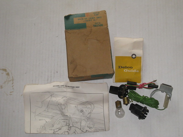 1963 Chevy II NOS back up lamp unit accessory kit # 985500