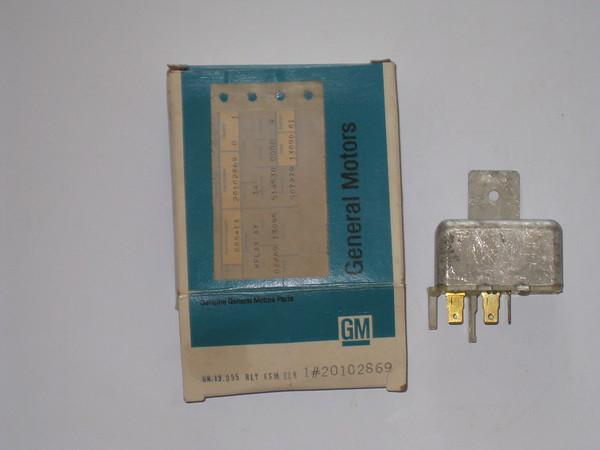 1980 Chevrolet Nova NOS electric door lock relay # 20102869