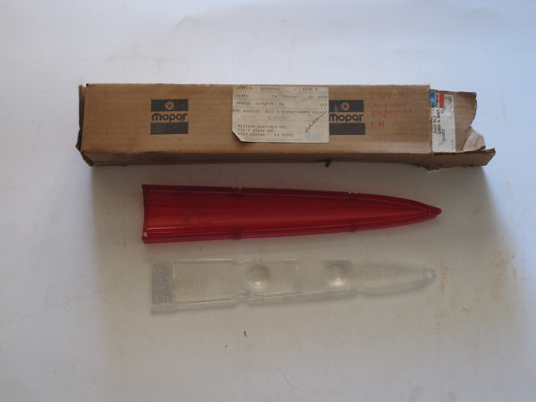 1964 1965 Chrysler Imperial NOS LH tail lamp lens # 2448843