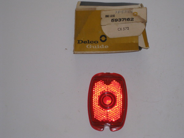1938 thru 1953 Chevrolet car & truck NOS tail lamp lens # 5937162