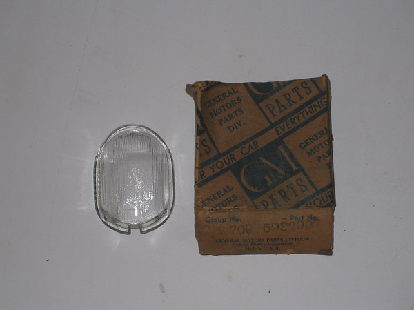 1942 Buick NOS license lamp lens # 5932907